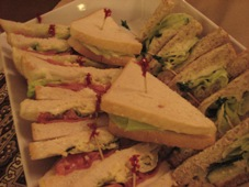 sandwiches: stoat, ham and chicken